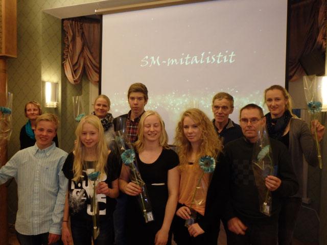 Vuoden 2014 KS Gaalassa palkitut SM-mitalistit.