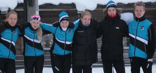 Ensilumen Rastien menestyjiä Ylläksellä.
