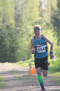 Niklas Heikkilä onnistui lauantain keskimatkan näyttökisassa sijoittuen 3.ksi. (Kuva: Vaula-Riikka Heikkilä)