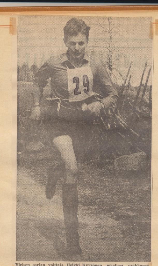 Ilomantsin Urheilijoiden piirikunnalliset 30.5.1965. Paita oikeassa käytössä.