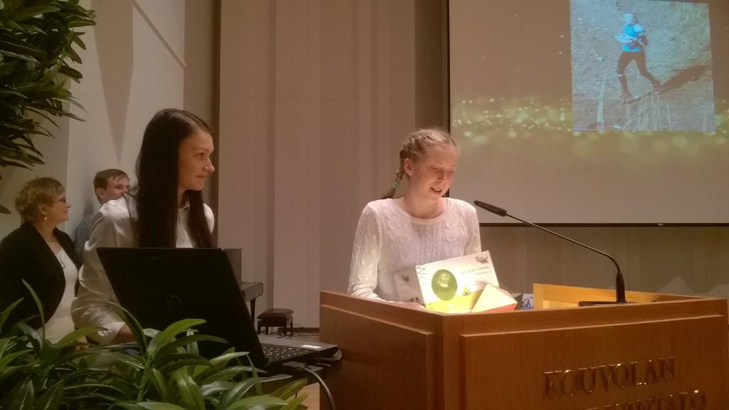 Elisa Mattila muisti kiitospuheessaan monia tärkeitä menestyksen tukena olleita henkilöitä