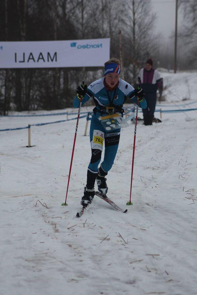 Niklas Heikkilä ylsi SM-pronssille poikien 16-sarjassa. Kuva Heikkilä.