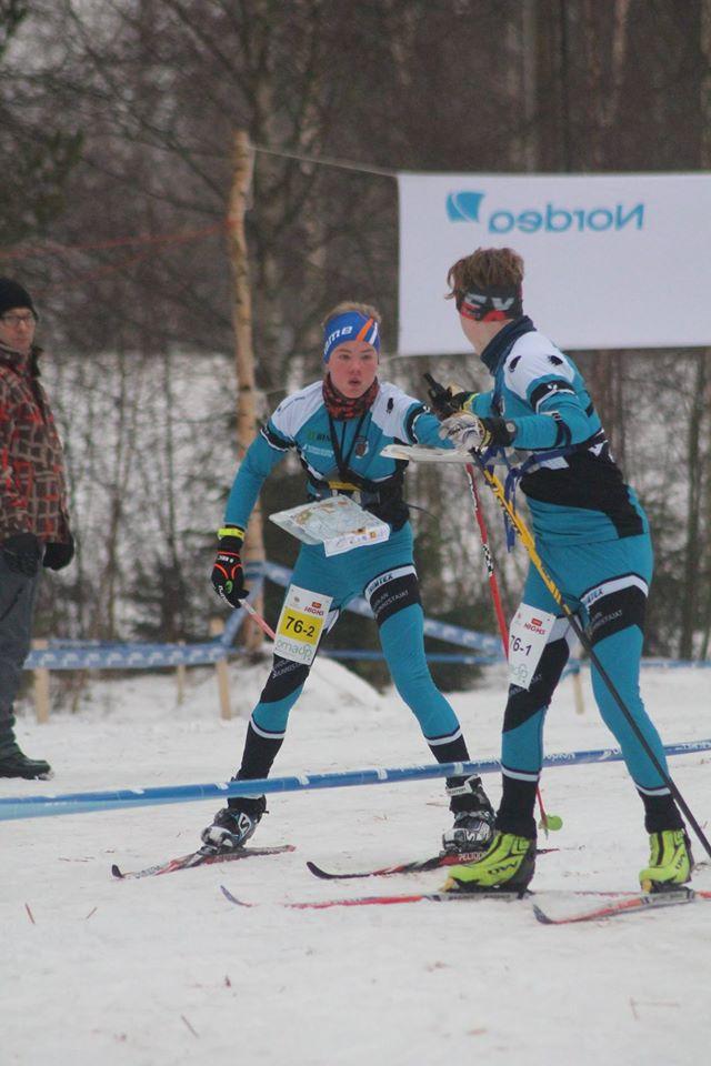 Eerik ja Niklas vaihdossa. Kuva Heikkilä.