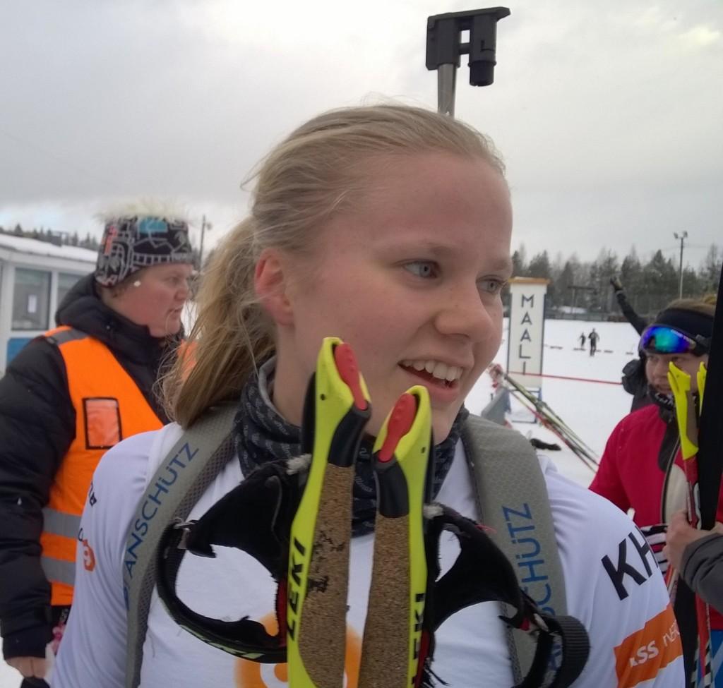 Heidi Nikkisen suksi on luistanut ja ammunta sujunut tänä talvena