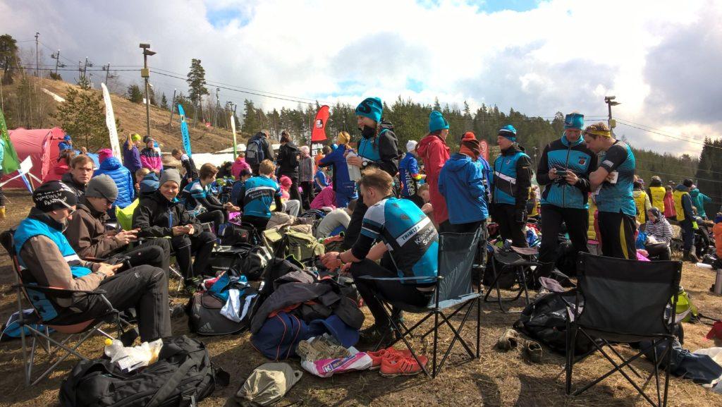 Åminneforsin hiihtokeskuksesta löytyi sopivia katselupaikkoja leiriytymiseen